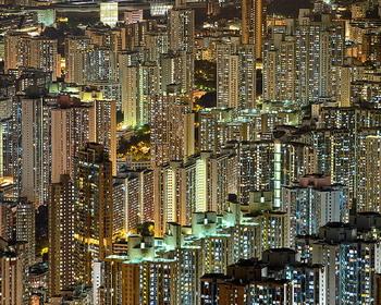 Огни вертикального города, Гонконг, КНР