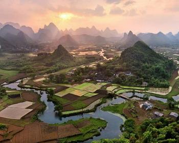 Живописная деревня Cuiping, Китай
