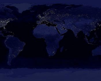 Карта Светового Загрязнения планеты Земля