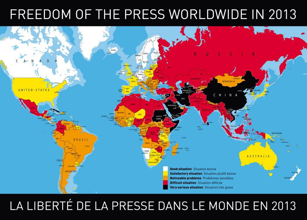 Свобода слова в прессе по итогам 2012 года
