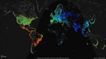 Статистика использования Интернета по времени суток