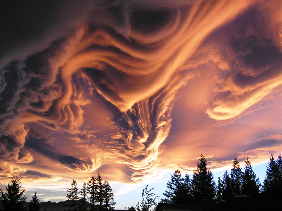 Волнисто-бугристые (Undulatus asperatus) облака
