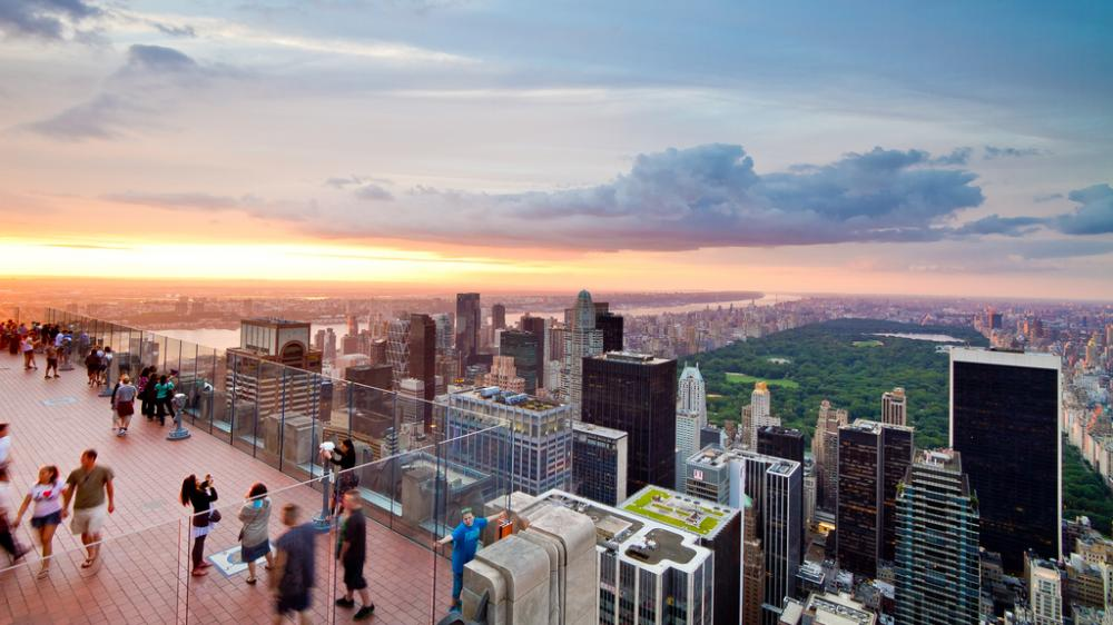 Панорама Центрального парка города Нью-Йорк