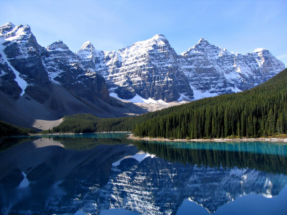 Озеро морейн moraine lake альберта канада