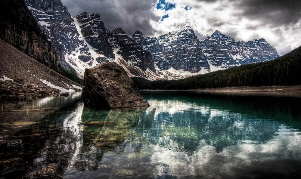 Озеро Морейн (Moraine Lake, Альберта, Канада)