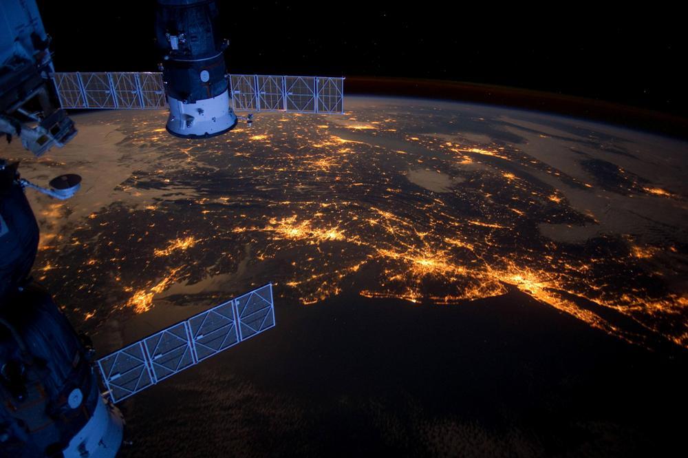 Фото атлантического побережья из космоса