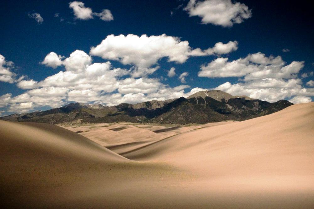 Божественные дюны Национального Парка Грейт-Санд-Дьюнс, Колорадо, США