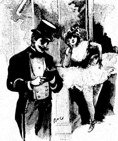 Ги де Мопассан. Иллюстрация к роману «Милый друг».Гравюра с рисунка Фердинанда Бака