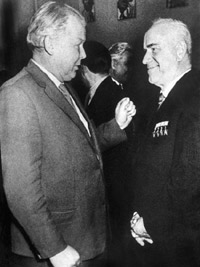 Александр Трифонович Твардовский, Юрий Гагарин и Дмитрий Шостакович в Кремле