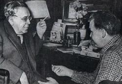 Александр Трифонович Твардовский с поэтом Самуилом Маршаком