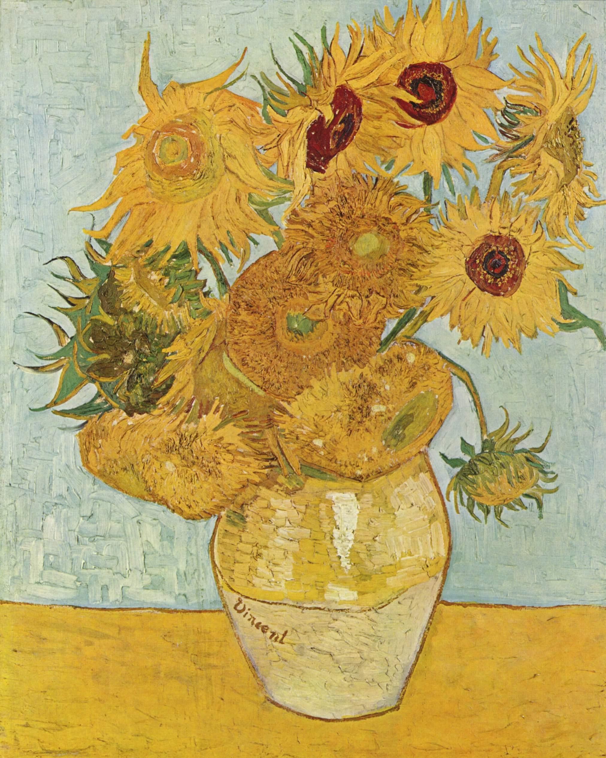 Винсент Виллем Ван Гог (нидерл. Vincent Willem van Gogh). Подсолнухи (1888)