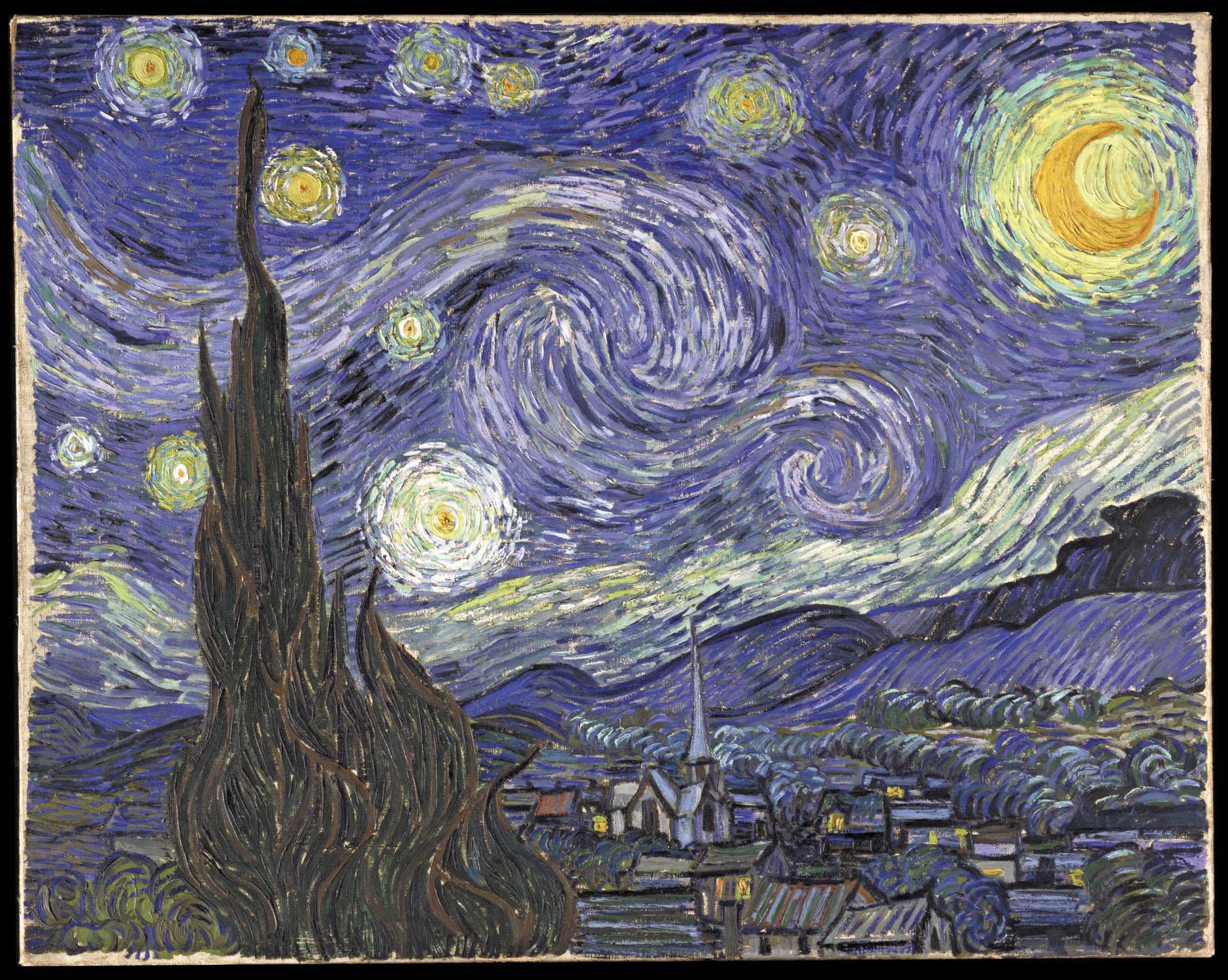 Винсент Виллем Ван Гог (нидерл. Vincent Willem van Gogh). Звёздная ночь