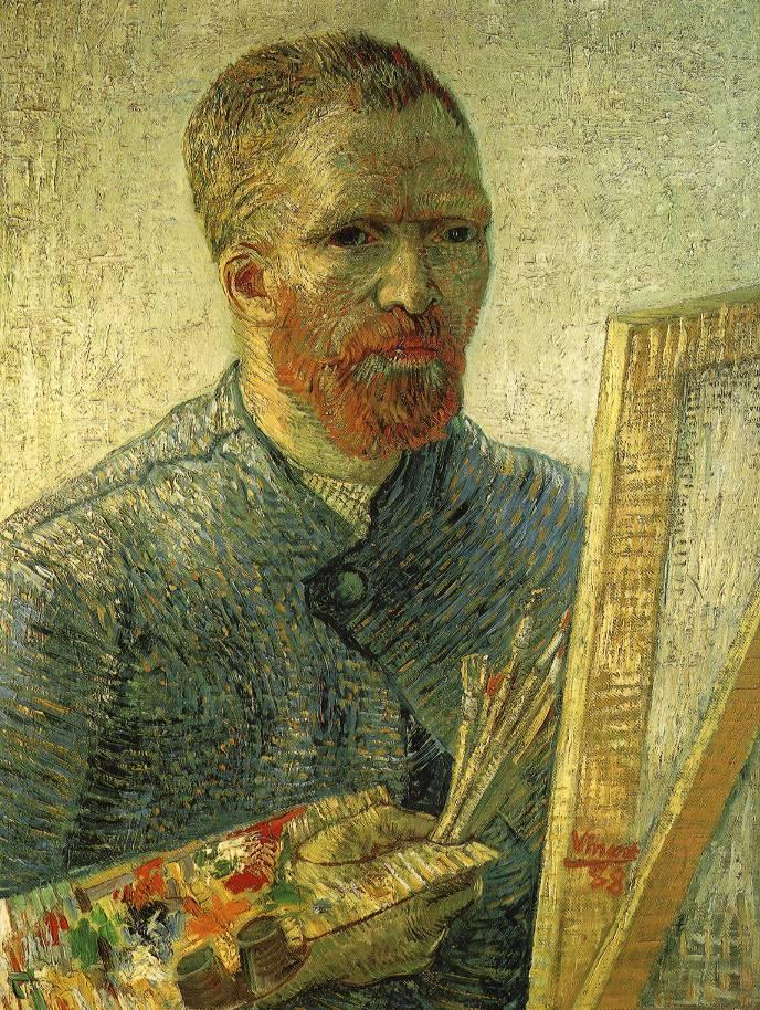 Винсент Виллем Ван Гог (нидерл. Vincent Willem van Gogh). Автопортрет. Как художник
