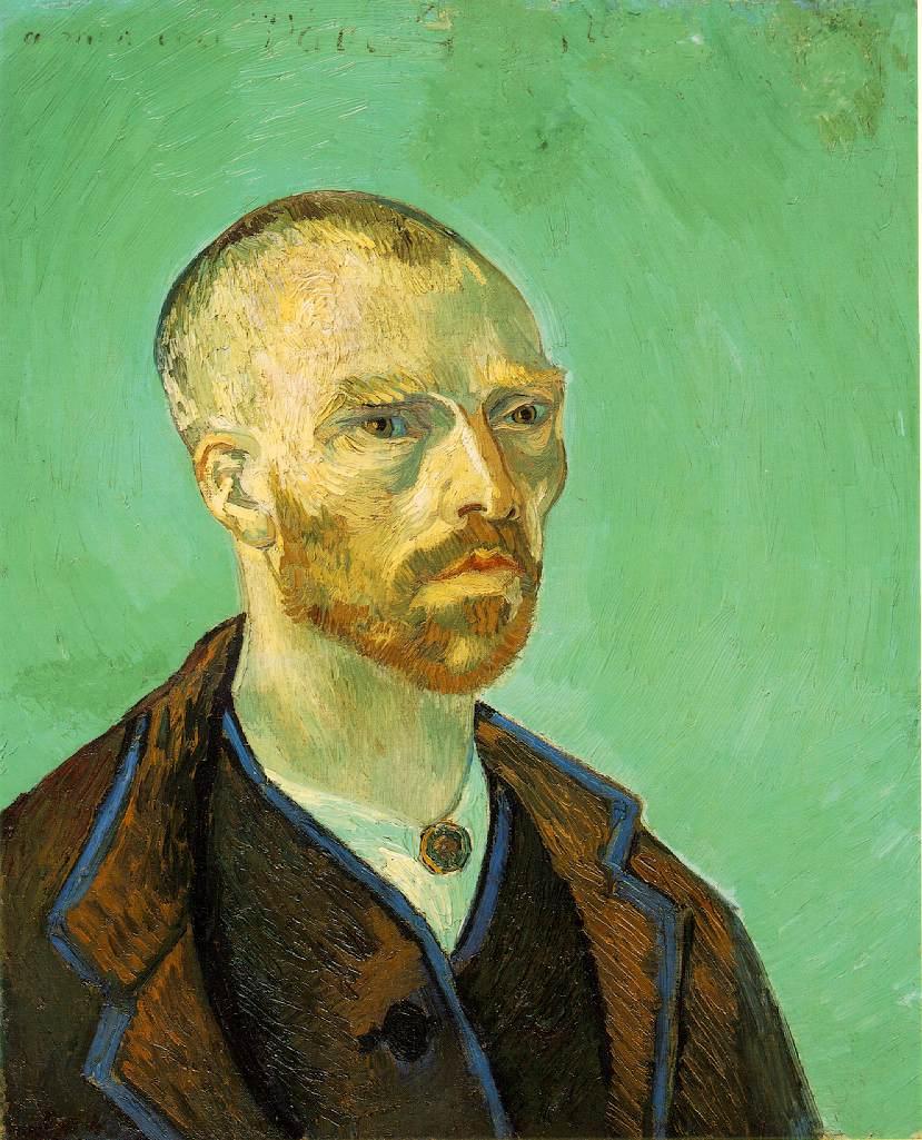 Винсент Виллем Ван Гог (нидерл. Vincent Willem van Gogh). Автопортрет. Посвящено Гогену
