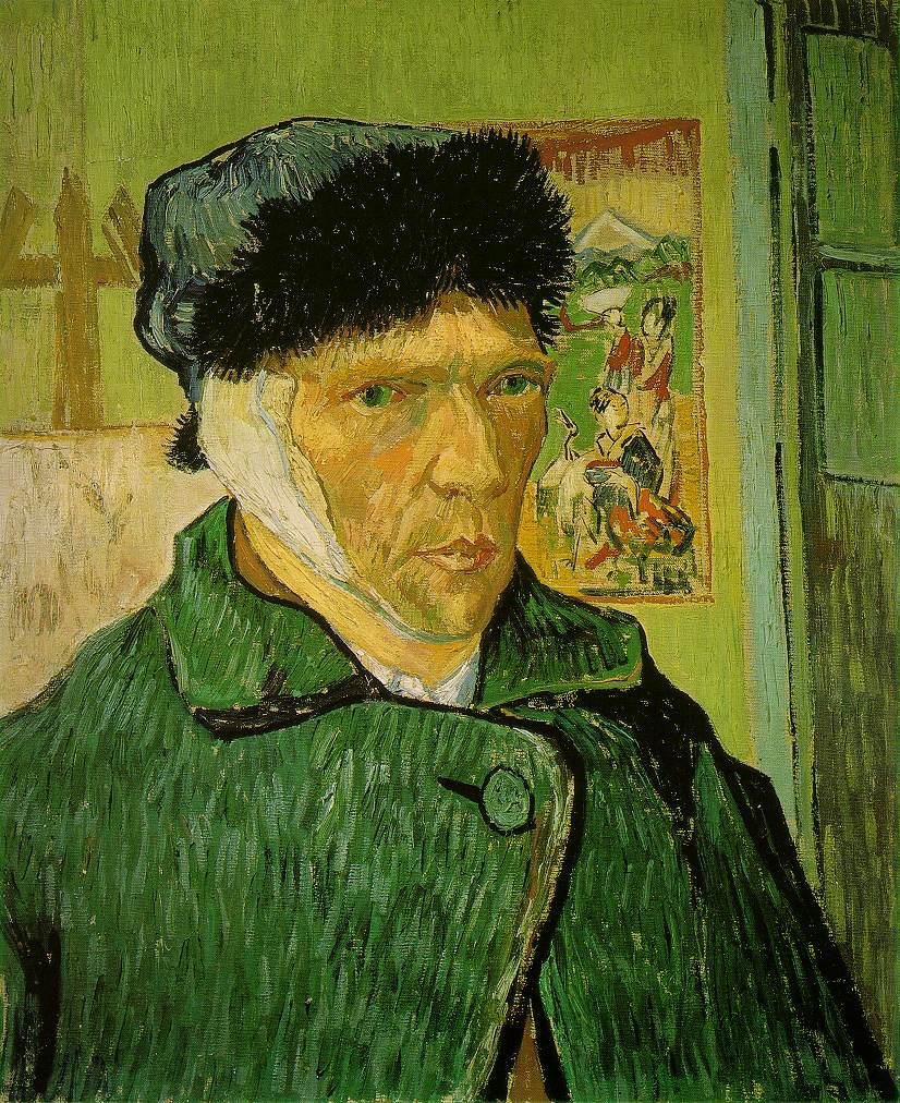 Винсент Виллем Ван Гог (нидерл. Vincent Willem van Gogh). Автопортрет. С забинтованным ухом