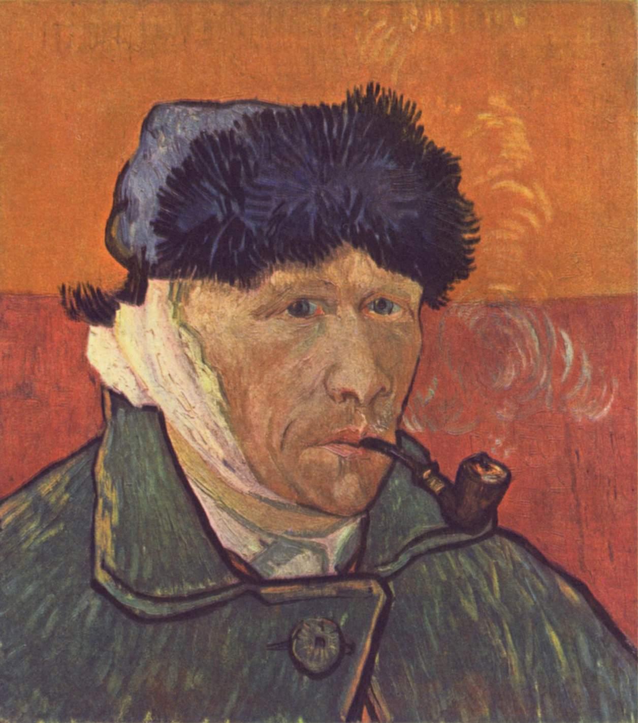 Винсент Виллем Ван Гог (нидерл. Vincent Willem van Gogh). Автопортрет с отрезанным ухом