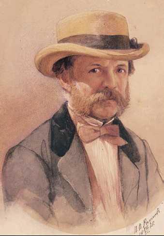 И. А. Гончаров. Портрет работы И. Раупова. 1868 г.