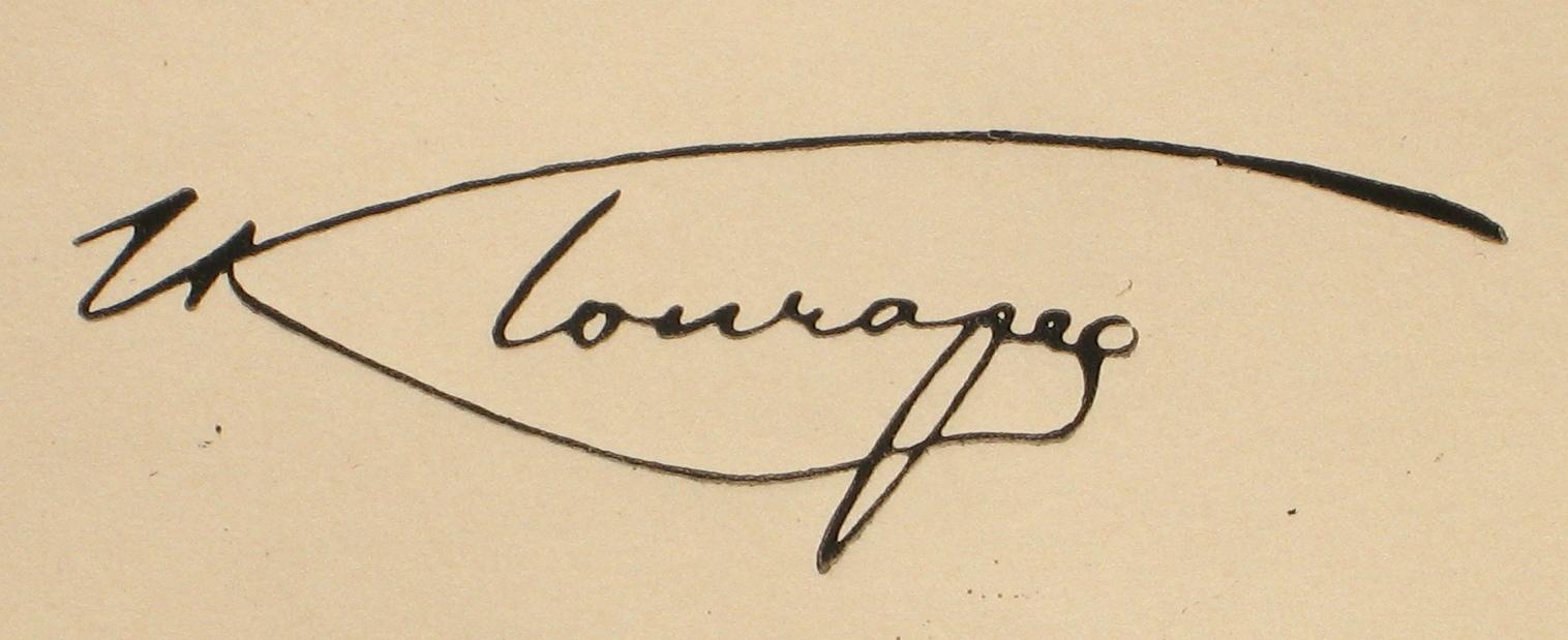 Автограф И. Гончарова