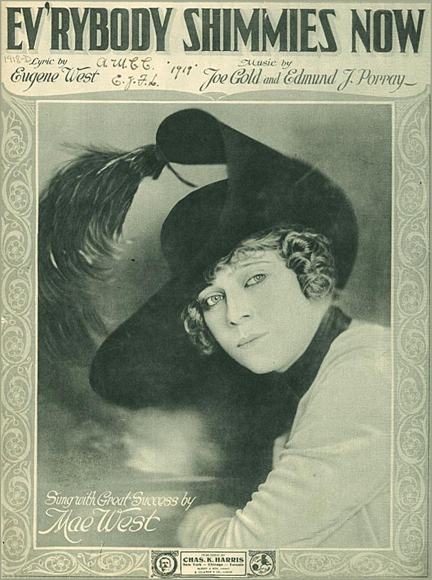 Уэст в возрасте 25 лет на театральной афише