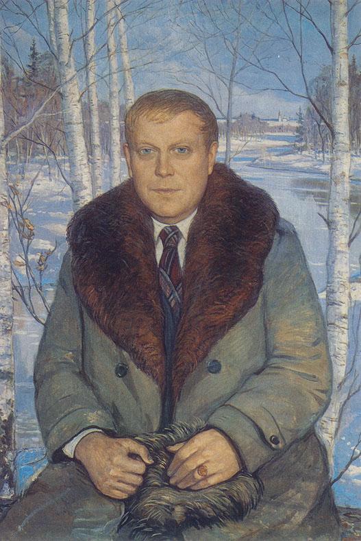 И.Глазунов. Владимир Алексеевич Солоухин (Vladimir Alekseevich Solouhin)