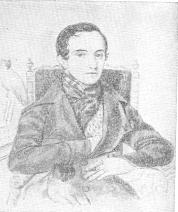 В. Ф. Одоевский. Акварель А. Покровского. 1844.