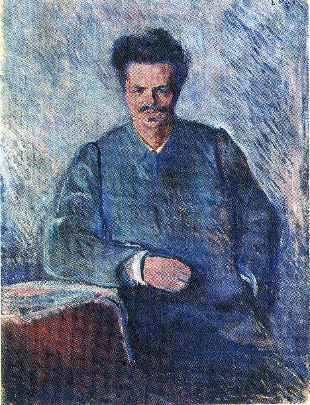 Мунк. Портрет Августа Стриндберга.