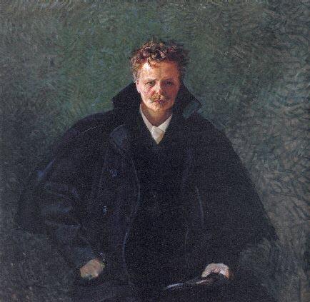 К.Крог Портрет Августа Стринберга 1893г.