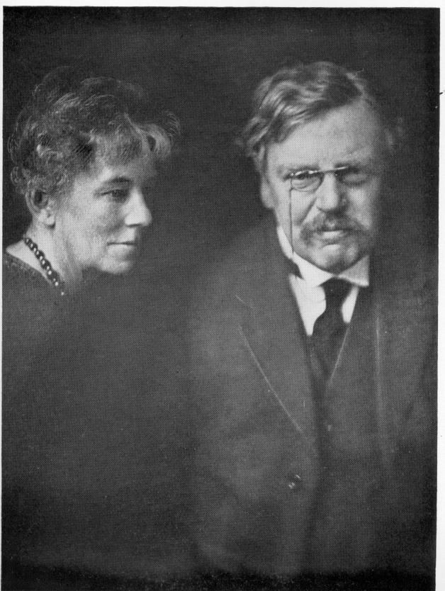 Честертон с супругой Франсис