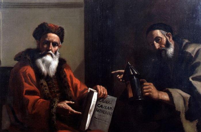 Mattia Preti Диоген и Платон