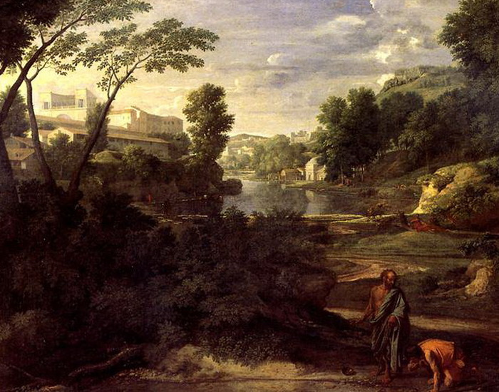 Никола Пуссен Пейзаж с Диогеном, 1648