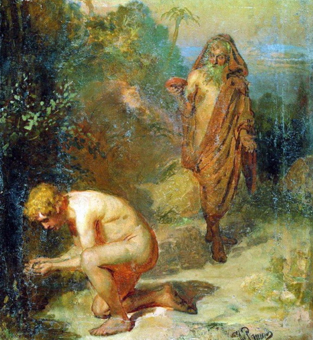 Диоген и мальчик. 1867, Репин Илья Ефимович