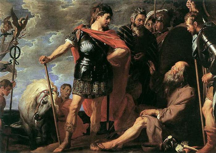 Художник Гаспард де Крайер. Александр и Диоген. XVII век