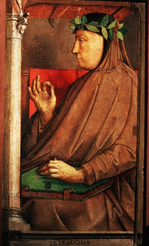 Франческо Петрарка (итал. Francesco Petrarca). Портрет работы Юстаса ван Гента