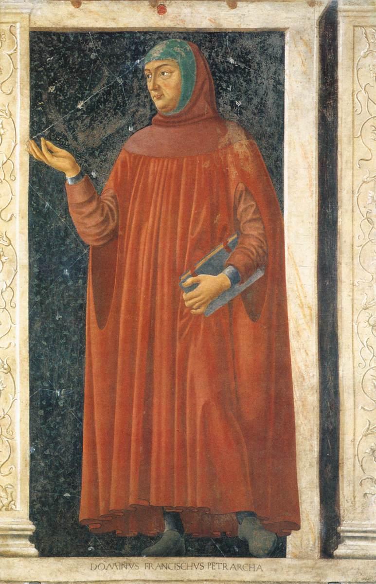 Портрет Боккаччо работы Андреа дель Кастаньо, фрески виллы Кардуччо