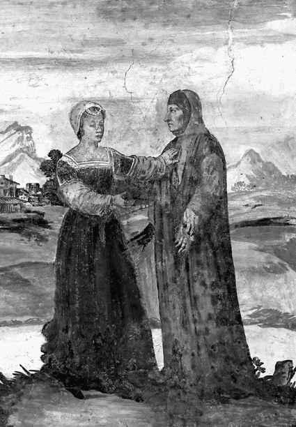 Петрарка и Лаура на фреске XIV века