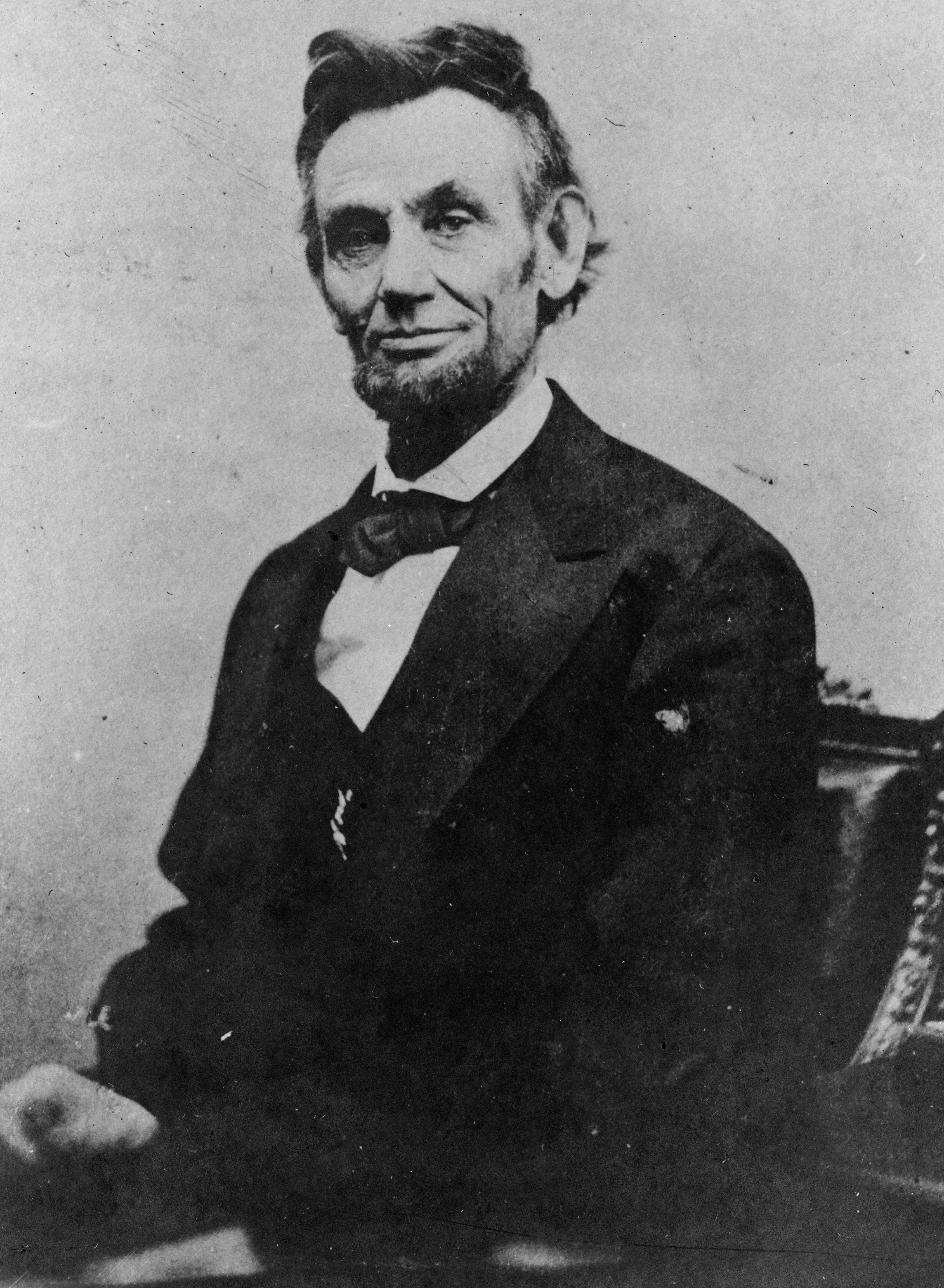 Последняя прижизненная фотография Авраама Линкольна, сделанная 10 апреля 1865 года, за пять дней до убийства
