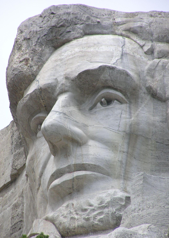 Линкольн на горе Рашмор