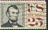 А.Линкольн на почтовой марке США