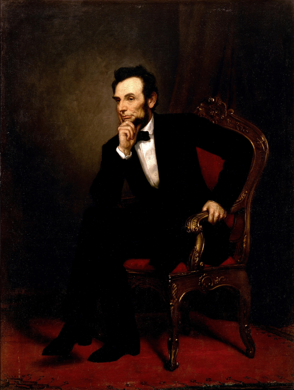 Официальный портрет Линкольна в Белом Доме.