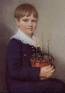 Чарльз Дарвин в возрасте семи лет (1816), за год до безвременной кончины его матери.