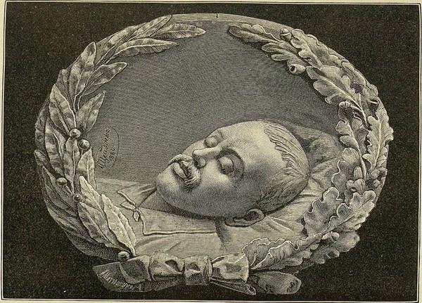 Портрет Лермонтова в гробу.