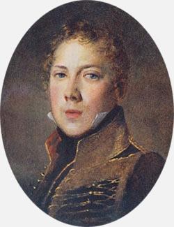 Пётр Яковлевич Чаадаев в 1815 году