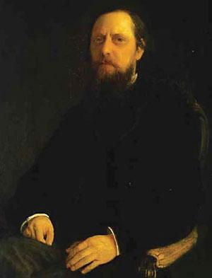 Портрет М.Е. Салтыкова-Щедрина. Художник Николай Ге. 1872 г.