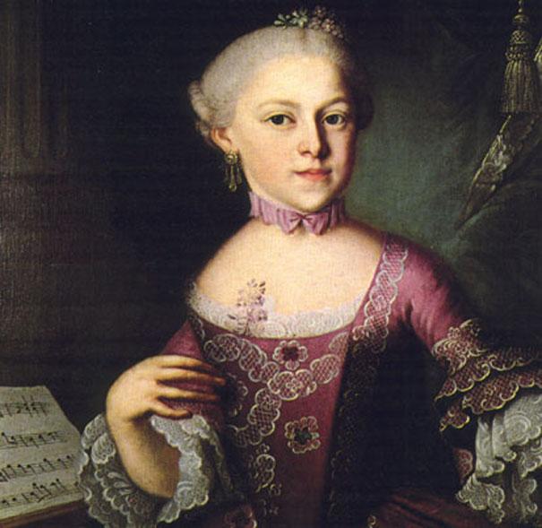 Мария Анна Моцарт, старшая сестра Вольфганга Амадея