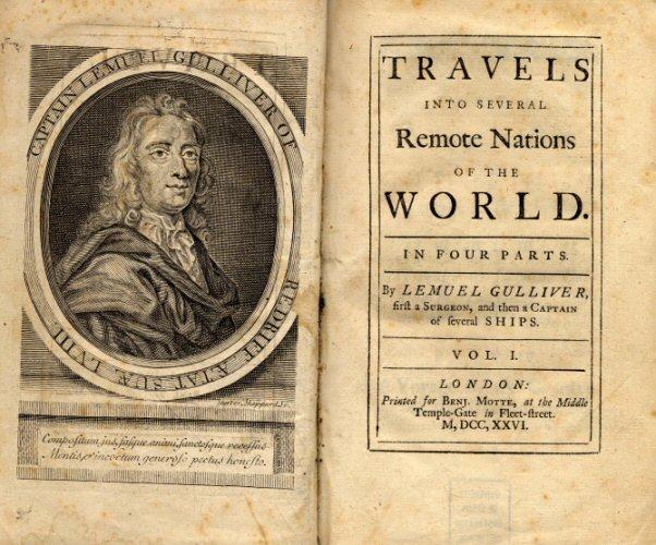 Титульный лист первого издания «Путешествий Гулливера»