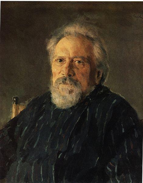 Портрет Николая Лескова работы Валентина Серова, 1894