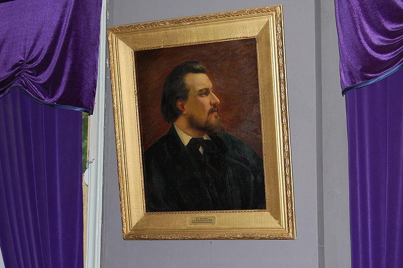 Портрет Лескова в музее г. Орла