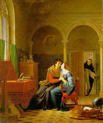 Жан Виньо, «Каноник Фульбер застает врасплох Абеляра и Элоизу»