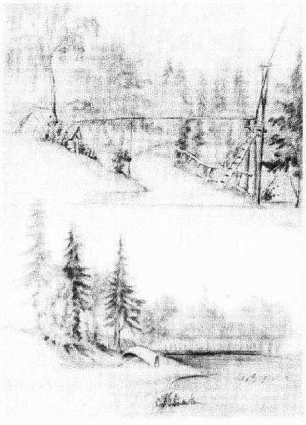 Рисунок из альбома Аксаковых