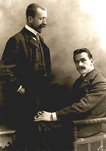 Генрих и Томас Манны, около 1900